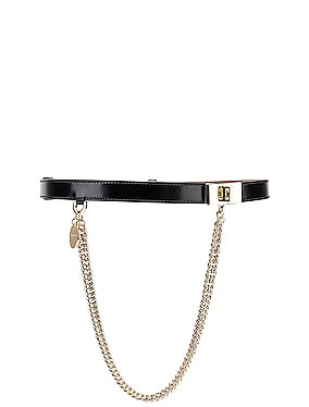 Turnlock Chain Leather Belt