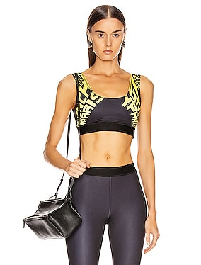 Sporty Logo Sports Bra Top