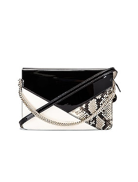 Flat Mixed Leather Cross Bag