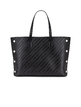 Medium Bond Chain Embossed Leather Tote