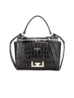 Mini Eden Embossed Croc Bag