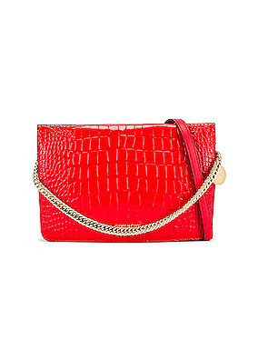 Cross 3 Embossed Croc Crossbody Bag