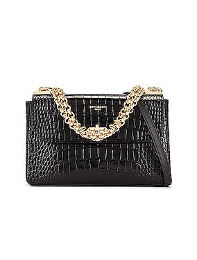 Small Catena Embossed Croc Bag