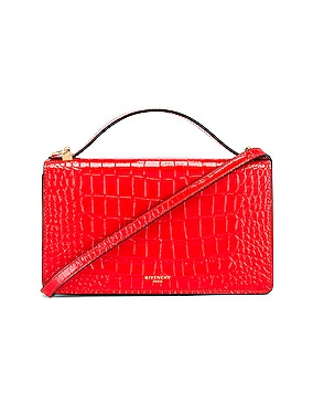 GV3 Embossed Croc Strap Wallet Bag
