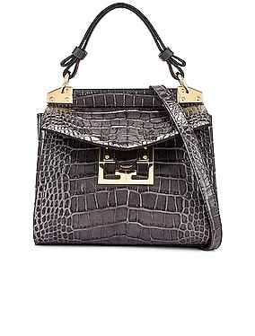 Mini Mystic Embossed Croc Bag