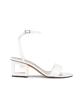 Patent Leather Triangle Heel Strap Sandals