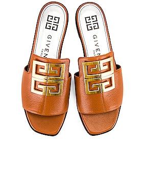 4G Flat Mule Sandals