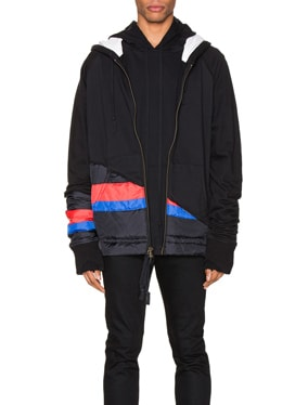 50/50 Puffy Striped Zip Hoodie