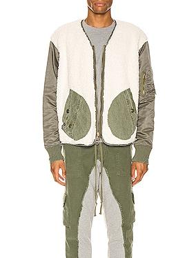 Sherpa Washed Modern Flight Jacket