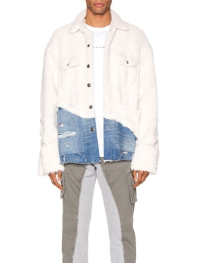 50/50 Sherpa Denim Studio Jacket