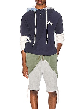Deconstructed Hooded Rugby Tee