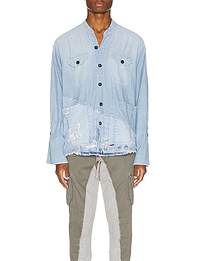50/50 Chambray Denim Boxy Studio Shirt