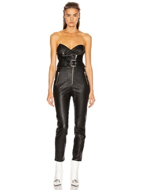 Blake Leather Moto Jumpsuit