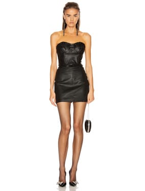 Julietta Leather Mini Dress