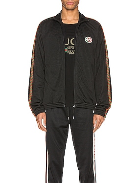 Oversize Mesh Jacket With Patch