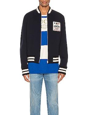 Jersey Wool Bomber Jacket