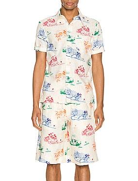 x Disney Printed Cotton Shirt