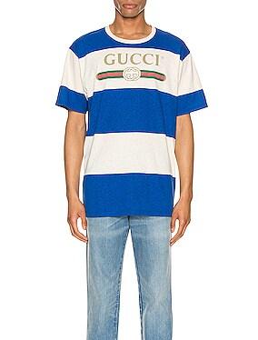 Gucci Logo Striped Tee