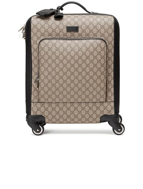 Gg Supreme Carry-On In Brown