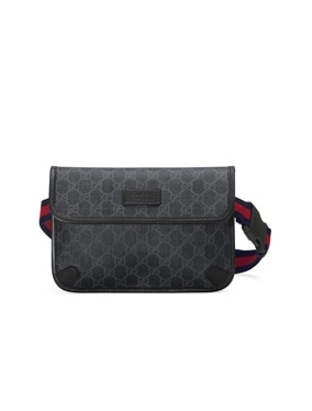 GG Supreme Belt Bag In Black
