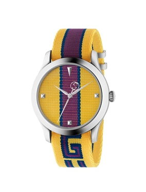 38MM G-Timeless Logo Strap Watch