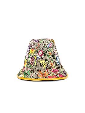 GG Supreme Flora Bucket Hat