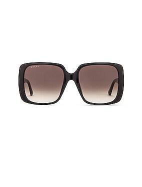 Logo Square Sunglasses
