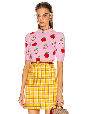 Short Sleeve Apples Top