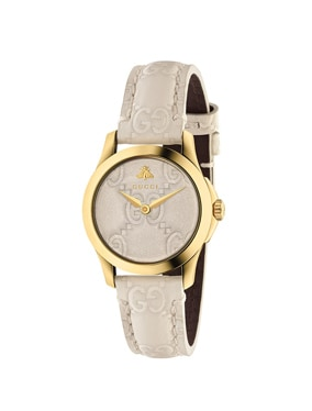 27MM G-Timeless Logo Embossed Strap Watch