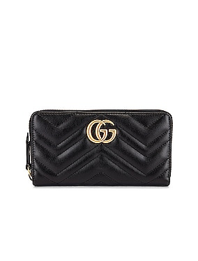 GG Marmont 2.0 Zip Around Wallet
