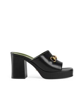 Mid Heel Platform Sandals