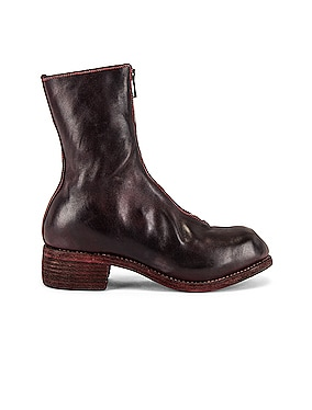 Full Grain Horse Front Zip Boot
