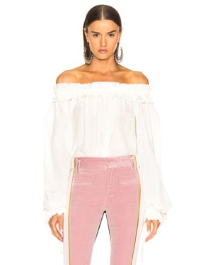 Blouson Sleeve Off Shoulder Blouse
