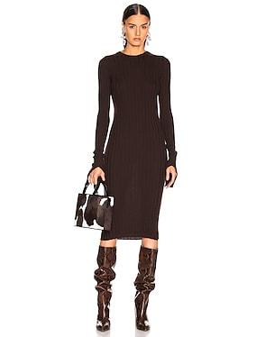 Cuff Slit Dress