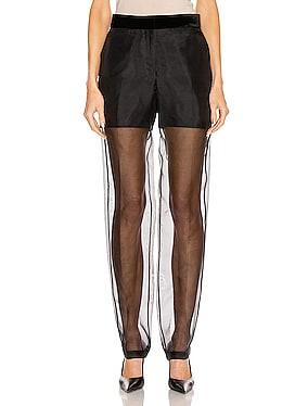 Straight Leg Organza Pant