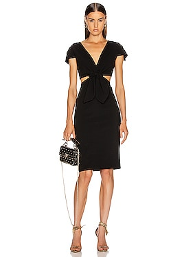 Phoebe Deep V Tie Dress
