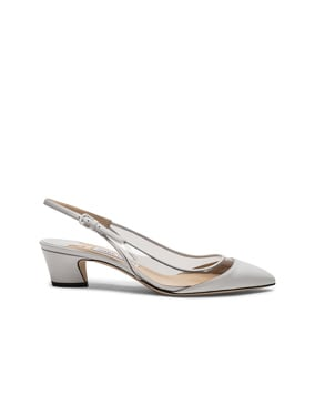 Gemma 40 Leather Plexi Slingback