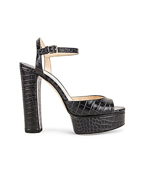 Peachy 125 Croc Embossed Sandal
