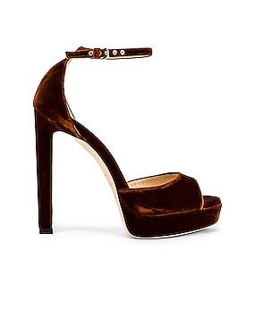 Pattie 130 Velvet Sandal