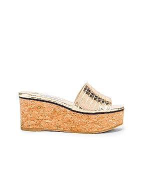 Deedee 80 Metallic Embossed Leather Slide