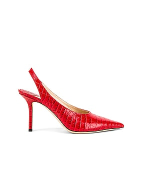 Ivy 85 Croc Embossed Leather Slingback