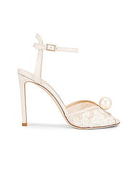Sacora 100 Floral Lace with Pearl Sandal