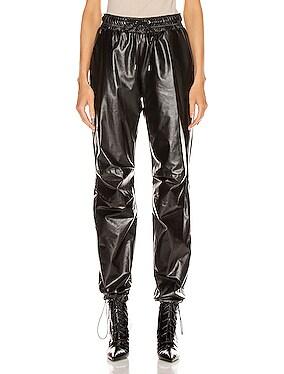 Oversized Leather Track Pant