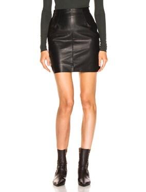 Elise Leather Skirt