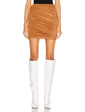 Velvet Jersey Skirt
