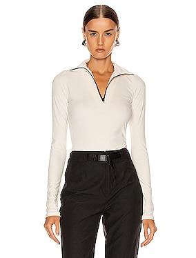 Velvet Jersey Long Sleeve Top