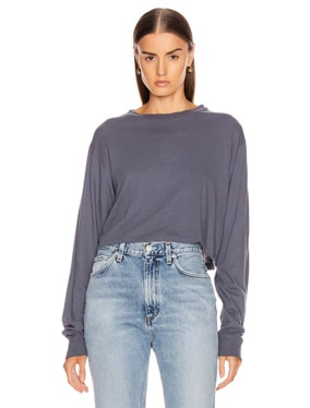 Jersey Long Sleeve Cropped Tee