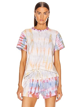 Reconstructed Cropped Tie Dye Tee