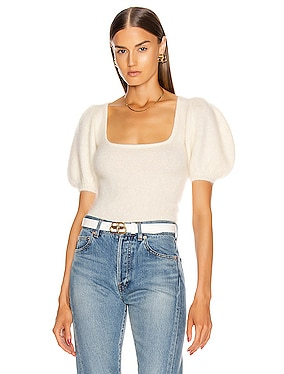 Swarovski Poofy Sleeve Top