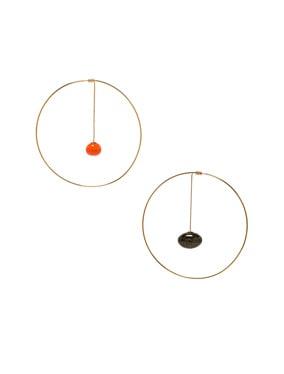 Orange Olive Earrings